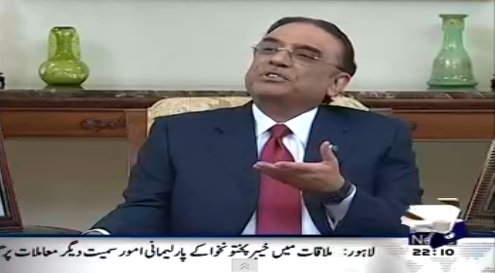 President Zardari's interview on tv.... Interesting :)